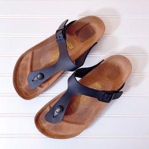 Birkenstock Black Gizeh Birko-Flor Sandals Size 39